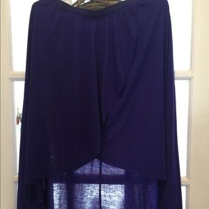 American eagle high low blue skirt
